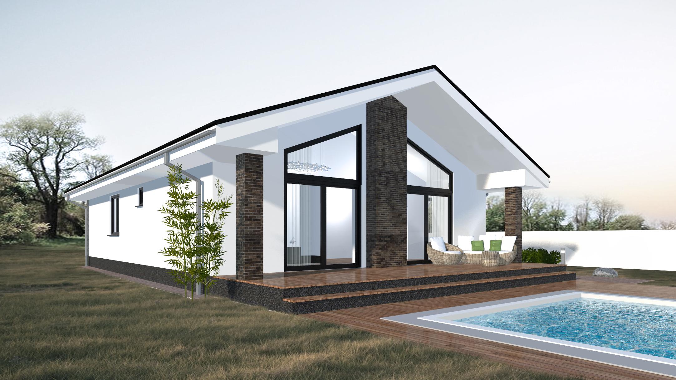 Návrh 4.izbového bungalovu